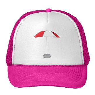 Custom Colorful Beach Umbrella Water Bottle Tag Hats