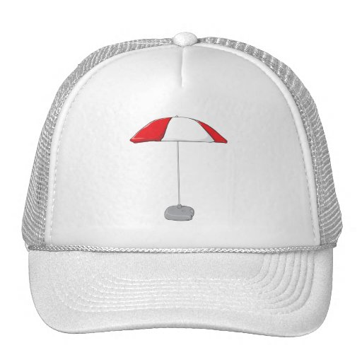 Custom Colorful Beach Umbrella Water Bottle Tag Trucker Hats
