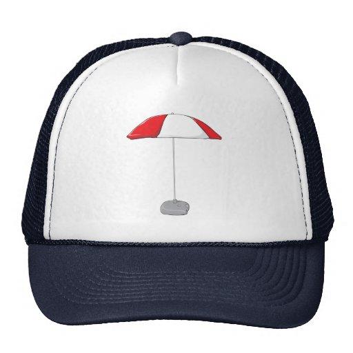 Custom Colorful Beach Umbrella Water Bottle Tag Mesh Hats
