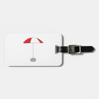 Custom Colorful Beach Umbrella Water Bottle Tag Tag For Luggage