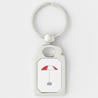 Custom Colorful Beach Umbrella Water Bottle Tag Key Chain