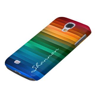 Custom Colorful Stripes Galaxy case Galaxy S4 Case