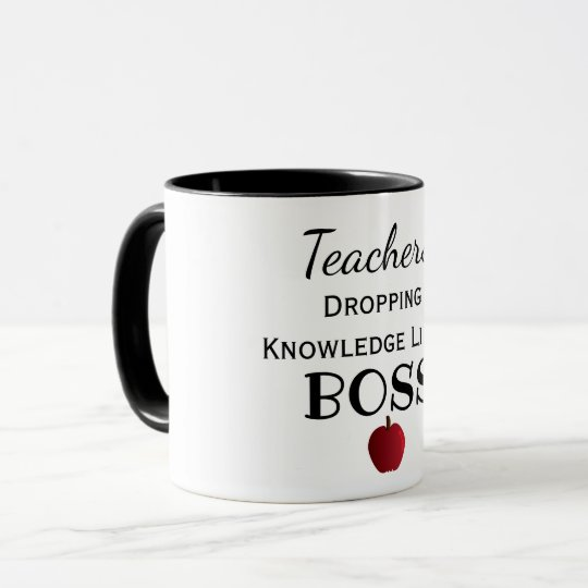 Custom Colour Awesome Teachers Like a Boss Mug