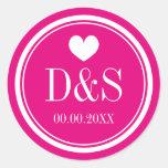 Custom colour background wedding favour stickers