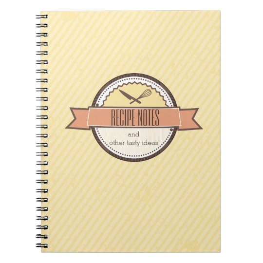 Custom colour chefs knife whisk recipe notebook
