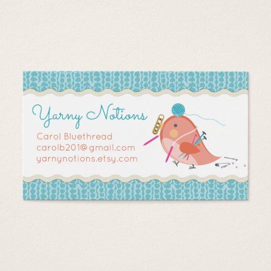 Custom colour cute bird knitting crochet notions business