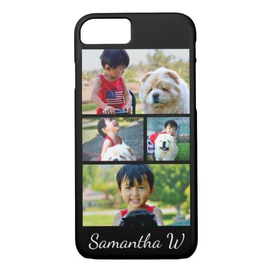 Custom Colour Four Photo Collage iPhone 8/7 Case