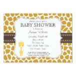 Custom Colour Giraffe Baby Shower Invitations