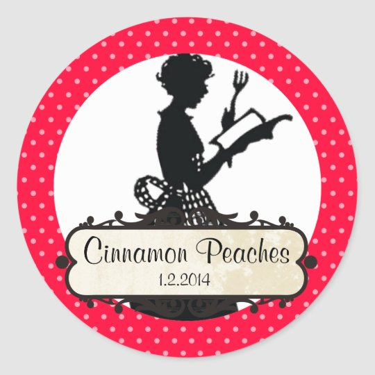 custom colour housewife cookbook canning label