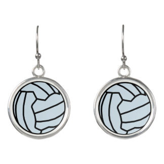 Custom Colour Netball Ball Themed Gift Earrings