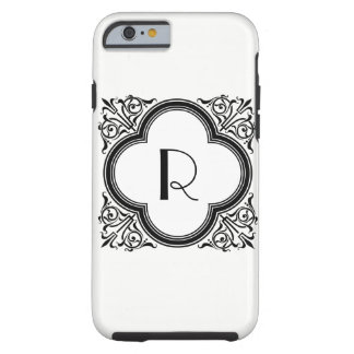 Custom Colour Noir Style Border Monogram Tough iPhone 6 Case