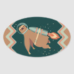 Custom colour outer space sloth rocket jet pack