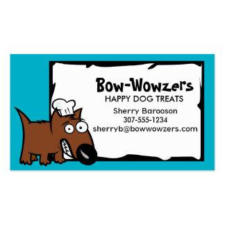 Custom colour pet food chef dog food dog treats pack of standard business cards