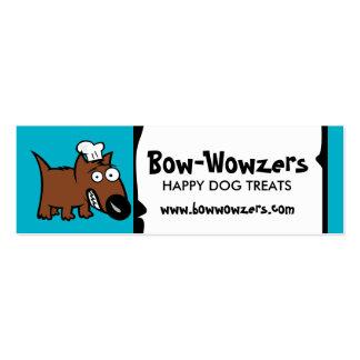 Custom colour pet food chef dog food dog treats pack of skinny business cards