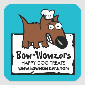 Custom colour pet food chef dog food dog treats square sticker