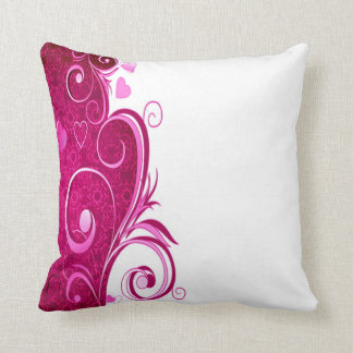 custom colour pink heart throw pillow