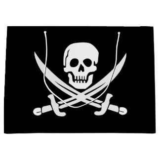 Custom Colour Pirate/Skulls/Swords Black Gift Bag