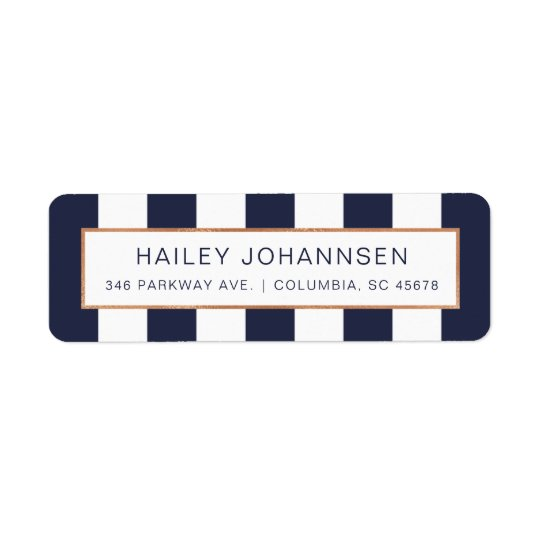 Custom Colour Stripes Faux Foil Address Labels
