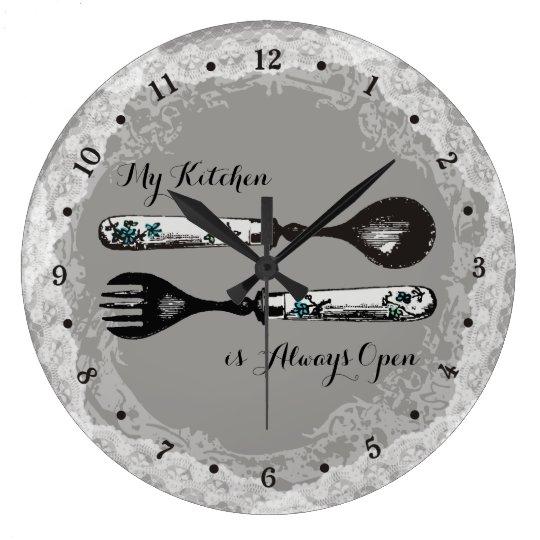 Custom colour vintage fork spoon lace kitchen large