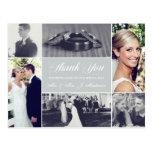 Custom Colour Wedding Photo Thank You Post Cards