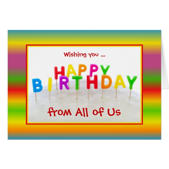 Custom Colourful Birthday Card with Letters