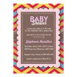 Custom colourful  flower baby shower invite
