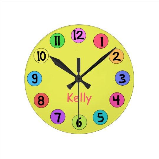 Custom Colourful Kids Big Number Clock