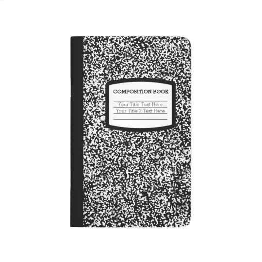 Custom Composition Book Black/White School/Teacher