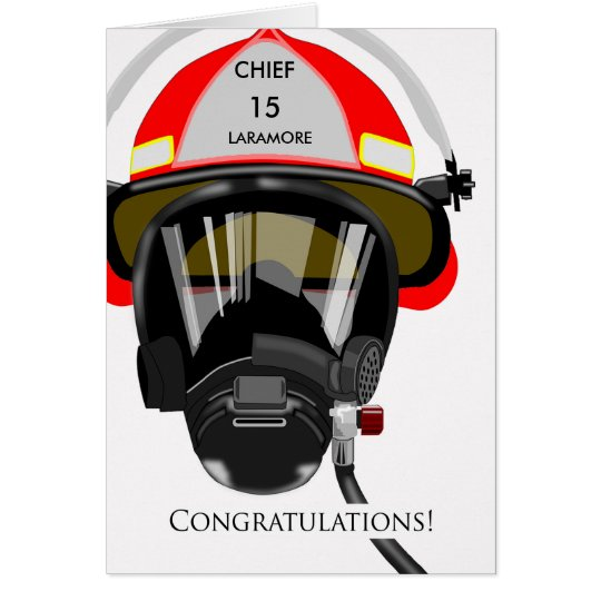 Custom Congratulations on Promotion to Fire Chief Card