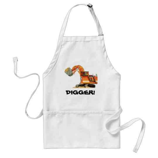 Custom Construction Truck Orange Digger Standard Apron