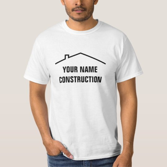 Custom construction work t shirts for building co.