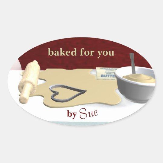 Custom Cookie Baking Stickers