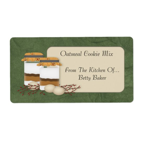 Custom Cookie Mix Jar Label
