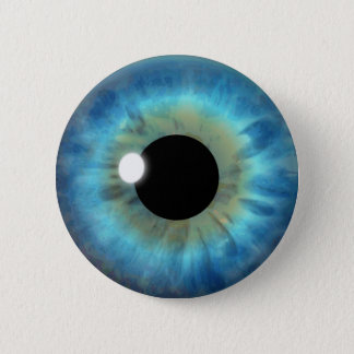 Custom Cool Blue Eye Iris Eyeball Fun Round Button