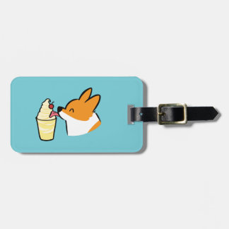 Custom Corgi Pineapple Dole Whip Luggage Tag
