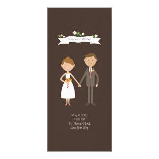 Custom Couple Portrait Wedding Ceremony Program Custom Rack Card