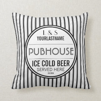 Custom Couple Pubhouse Beer Served Here Cushion