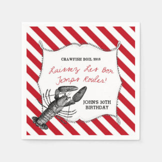 Custom Crawfish Boil Napkins Disposable Serviette