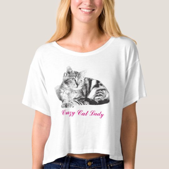 Custom Crazy Cat Lady T-Shirt