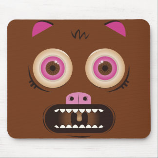 Custom crazy cute monster mouse pad