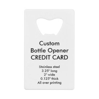 Custom Credit Card Style Bottle Opener Wallet Bottle Opener