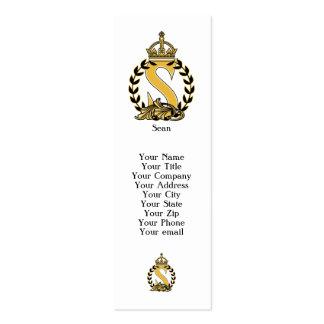 Custom Crown Monogram - S Business Cards