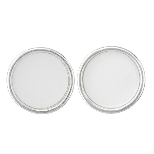Round Cufflinks, Silver Plated