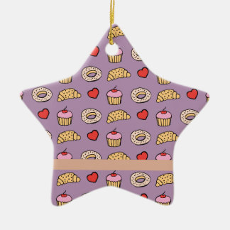 Custom Cupcake Pattern Christmas Ornament