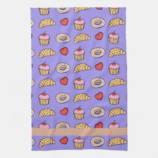Custom Cupcake Pattern Tea Towel