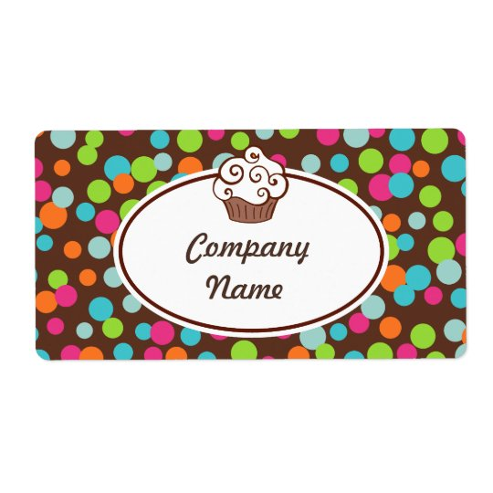 Custom Cupcake Sprinkles Labels