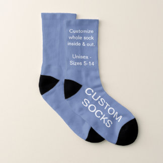 Custom Customisable Small Blue Grey Socks 1