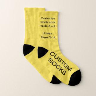 Custom Customisable Small Yellow Socks 1