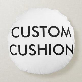 "Custom Customizable 16"" Round Cotton Throw Pillow"