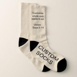 Custom Customizable Large Beige Socks 1